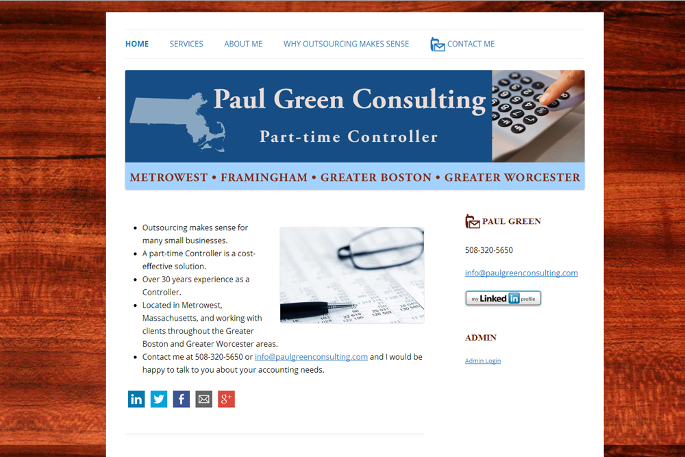 Paul Green Consulting Screenshot
