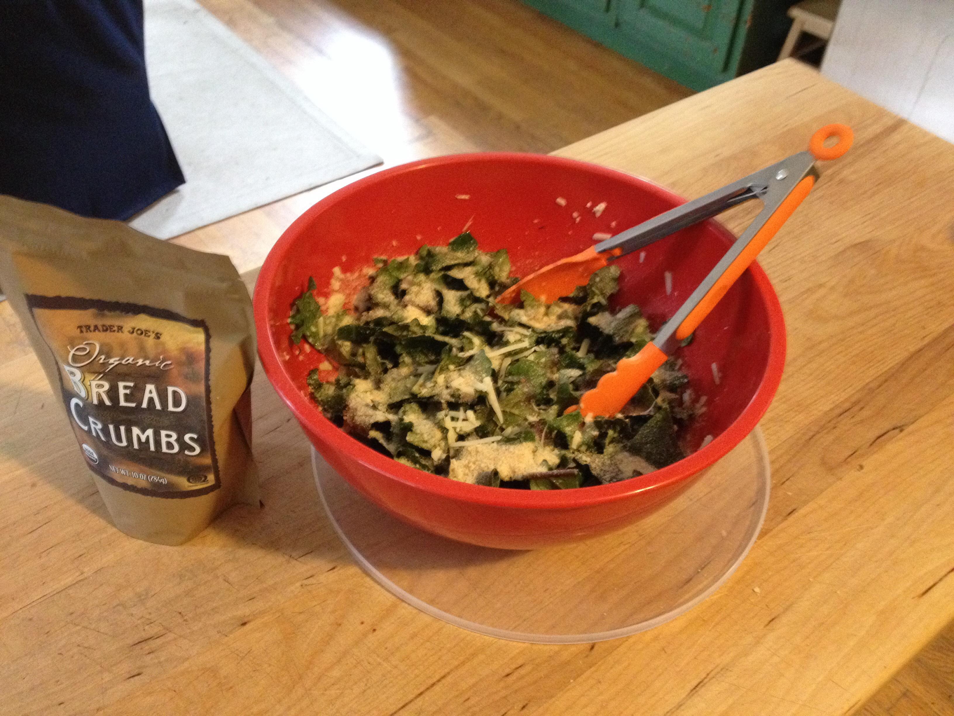 Raw Tuscan Kale Salad with rainbow lacinato kale