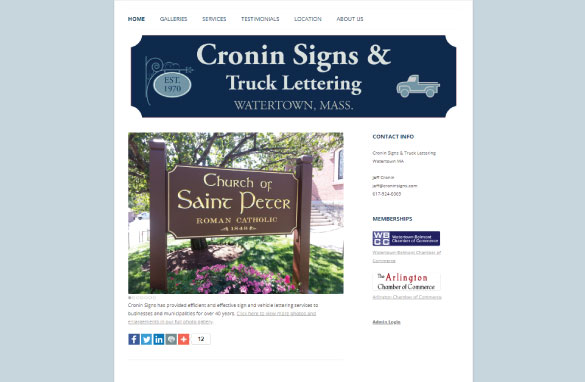 Cronin Signs screenshot